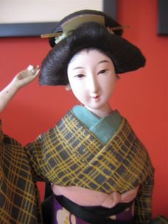 Oriental, Japanese Doll, Asian Doll, Geisha, Antique Dolls, Vintage, Style, Fashion, Puppets