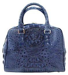 Authentic TS Crocodile Skin Womens Hornback Tote Purse Bag W/Strap Handbag