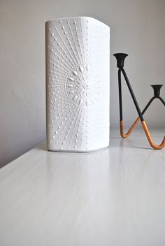 Modernist Matte White Porcelain Vase