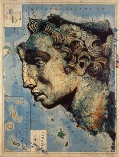 Cartografía ilustrada de Fernando Vicente