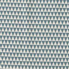 Bomull ubleket/støvet blå trekanter