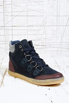 217f29a74eb BDG Bernie D-Ring High-Top Trainers in Blue at Urban Outfitters