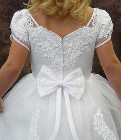 Catholic First Communion Dresses | First Holy Communion Dresses |Closeup