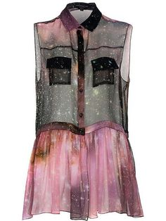"by Christopher Kane -what to do w/ a sheer ""Universe"" print"