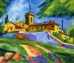 Italian Church - Convent of San Gimignano - Max Pechstein