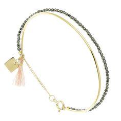 Bracelet jonc Cristal (rose)