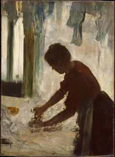 A Woman Ironing Edgar Degas (French, Paris 1834–1917 Paris) Date: 1873