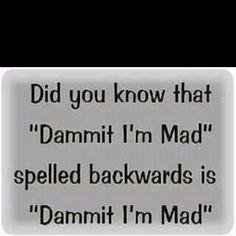 Dammit I'm mad!