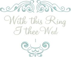 Ring pillow design - With This Ring