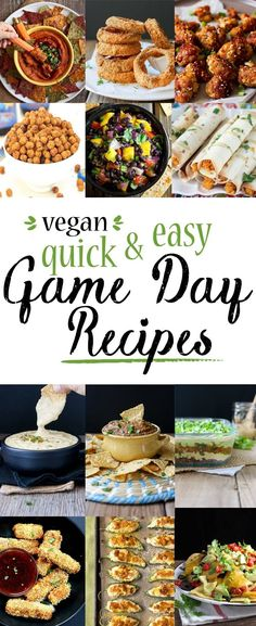 Quick & Easy Game Day Recipes | www.veggiesdontbite.com | #vegan #plantbased #gameday via @veggiesdontbite