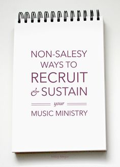 Non-Salesy Ways to Recruit and Sustain Your Music Ministry - five effective tips and strategies for recruiting for your church ministry and things you can do to help sustain your ministry, now and in the future. Choir Songs, Kids Songs, Music Ministry, Church Ministry, Elementary Choir, Church Music, Music Classroom, Classroom Ideas, Music For Kids