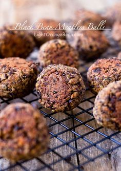 Black bean meatless meatballs. They are packed with complex flavors and taste fantastic with Italian spaghetti sauce, meatball sandwich, or even more. (Vegan/Gluten-Free)