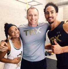 We were stoked to have @todddurkin come by the #TRXTRAININGCENTER and film some exclusive @trxtraining content.