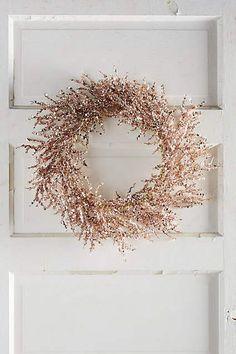 Rosy Wreath - anthropologie.com