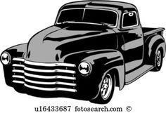 Chevy Pick up Old Trucks, Chevy Trucks, Pickup Trucks, Pick Up, Car Silhouette, Cars Coloring Pages, Skate, Automobile, Car Logos