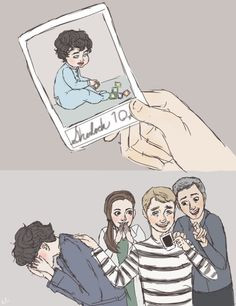 "Adorable! Molly's like; ""squuuueeeee!"" (and probably wondering what Sherlolly babies would look like). John can't get over the fact Sherlock was a child once, and Lestrade is rubbing it in!"