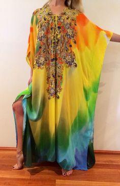 NEW Camilla Franks Silk Swarovski Lace UP Kaftan Dress Layby Avail | eBay