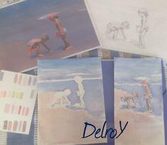 DelroY acuarela estudios