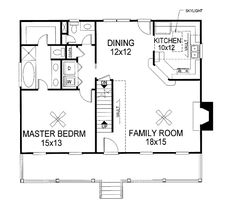 First Floor Plan Of Cape Cod Country House Plan 92423
