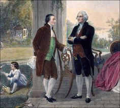 AUG. 5, 1777: Gen.  George Washington and Maj. Gen. Marquis de Lafayette met for the first time. image:  George Washington and the Marquis de Lafayette | George Washington's Mount Vernon
