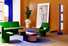 A new interior architecture is emerging, that will move boundaries between object and space Design Blog, Design Studio, Hotel Milan, Colorful Furniture, Modern Furniture, Interior Styling, Interior Decorating, Colorful Interiors, Space Interiors