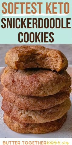 May 2020 - These keto cookies do not disappoint! They are the best tasting snickerdoodle cookies you can make while on a keto diet! You will need to make double when making these amazing cookies because they will go very fast! Keto Cookies, Sugar Free Cookies, Sugar Free Desserts, Cookie Diet, Cheese Cookies, Almond Cookies, Diet Desserts, Low Carb Desserts, Keto Snacks