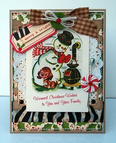 Not only beautiful but this card brings back lots of childhood memories.  I love October Afternoon paper and their coordinating embellishments!