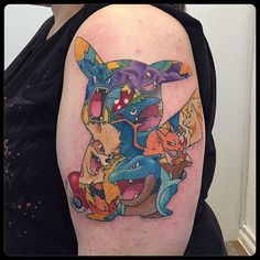 So many Pokemon tattoos in one by Mike Tattooer!
