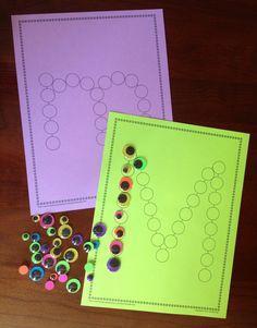 ABC Dot Worksheets: Alphabet Activity Sheets for Preschool and Kindergarten Preschool Letters, Learning Letters, Preschool Learning, Fun Learning, Learning Activities, Preschool Activities, Alphabet Activities, Classroom Activities, Toddler Activities