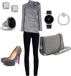"""black and grey"" by melissa-morgan-1 on Polyvore"