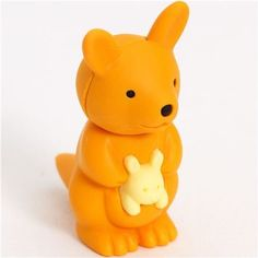Kangaroo and Baby Japanese Erasers. 2 Pack. Orange by PencilThings. $2.00. Non-Toxic, Non-PVC. Take-apart erasers and put them back together again and again!. Also available in pink.. Take-apart erasers and put them back together again and again! Mix and match colors to create your own unique colors. The take-apart function only works with erasers with more than one color.