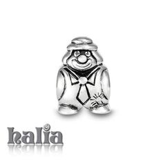 Clown: Classic clown bead: designed exclusively by Halia, this bead fits other popular bead-style charm bracelets as well. Sterling silver, hypo-allergenic and nickel free.   $35.00