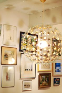 IKEA Maskros becomes the iconic sputnik light fixture, and for only $100.  Awesome hack from Jenny at Little Green Notebook.
