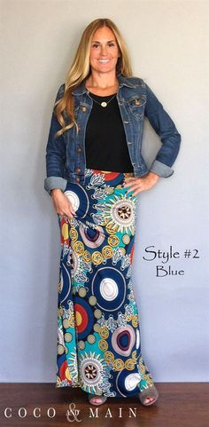 Fall Maxi Skirts 4 Styles