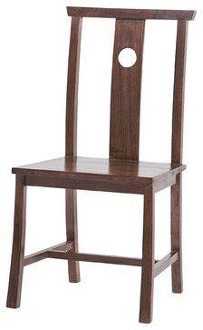Indigo Dining Chair, Side, Dark Walnut contemporary dining chairs