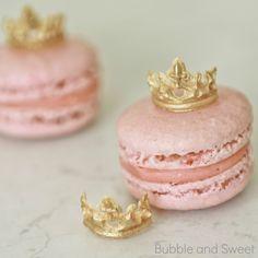 Bolha e doces: Princesa Macarons com Mini tiaras comestíveis ou como comer uma tiara 2