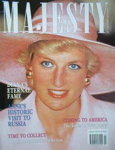 Majesty magazine - Princess Diana cover (July 1990 - Volume 1