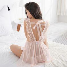 European Girls, Sleepwear Women, Nightwear, Lace Trim, Fit, Sexy Women, Underwear, Backless, Lingerie