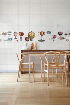 Ceramica BARDELLI | Collezione Macchine Volanti 1 (design di Piero Fornasetti)