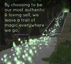 By choosing to Be our most authentic & loving self, we leave a trail of Magic everywhere we go .Leave a trail of magic Live Your Life, Way Of Life, Magical Quotes, A Course In Miracles, Believe In Magic, Positive Words, Positive Quotes, Positive Affirmations, Positive Attitude