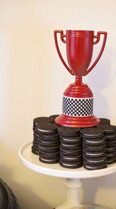 Boys Rad Race Car Themed Birthday Party Cookie Food Ideas