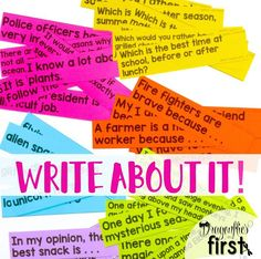 180 differentiated writing prompts! Writing lessons, organizers and stationery!