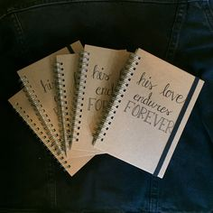 """His love endures forever"" notebooks"