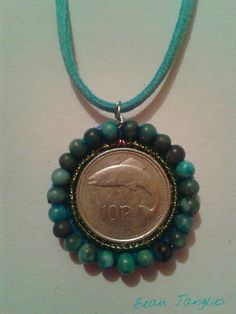 Handmade Old Irish Coin Necklace  #beaujanglies