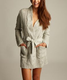 Another great find on #zulily! Snow Cable-Knit Rebecca Robe #zulilyfinds