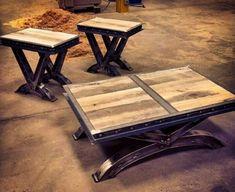 Metal table #vintageindustrialfurniture