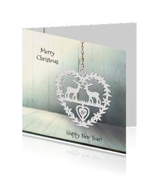 Kerstkaart / Nieuwjaarskaart, Ontwerp OTTI & Lorie Davison, verkrijgbaar bij Wensplein.nl