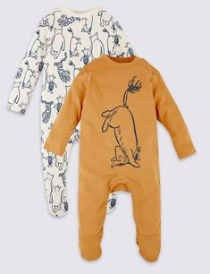 Buy the 2 Pack Pure Cotton Winnie the Pooh & Friends™ Sleepsuits from Marks and Spencer's range. Gender Neutral Baby Clothes, Cute Baby Clothes, Babies Clothes, Disney Baby Clothes Boy, Babies Stuff, Baby Gap, Carters Baby, Baby Boys, Winnie The Pooh Nursery