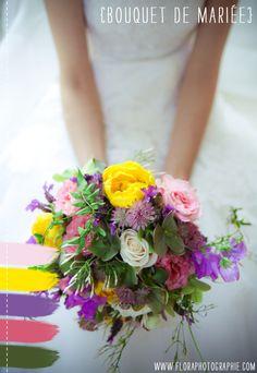 Un joli site pleins d'idées à checker toutes les semaines... Au moins ! En voilà un bouquet coloré pour égailler une mariée en blanc.