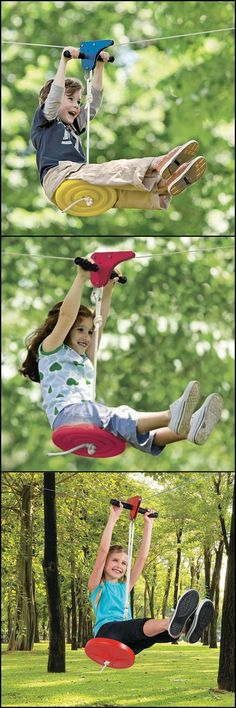 Turn your backyard into an adventure park!  This zip line kit is one of the most exciting items you can have in your backyard for hours and hours of enjoyment.   http://theownerbuildernetwork.co/twq4  The zip line help improve strength, athletic skills, and balance all while riding just a few feet off the ground.  Follow the directions and your zip line will be set up in 30 minutes.